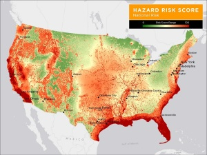 Corelogic-hazard-risk-score-map